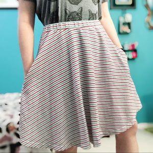 Big Bud Press Circle Skirt Striped Size Large